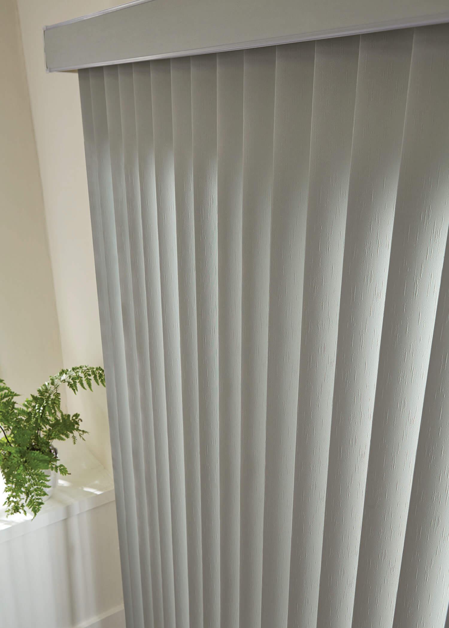 Graber vertical blinds fabric sheer vinyl -  Graber Vinyl Vertical Horizontal Bedroom