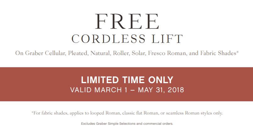 Graber Blinds: Free Cordless Lift